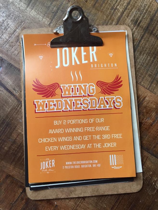 The Joker Wing Wednesday